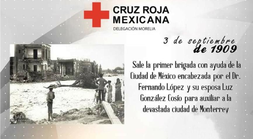 Brigada con ayuda para la Ciudad de Monterrey en 1909